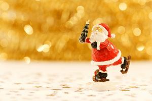 Der Weihnachtsmann kommt aus den USA.