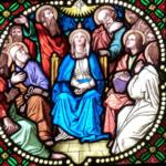 Zu Pfingsten kam der heilige Geist auf die Jünger herab.